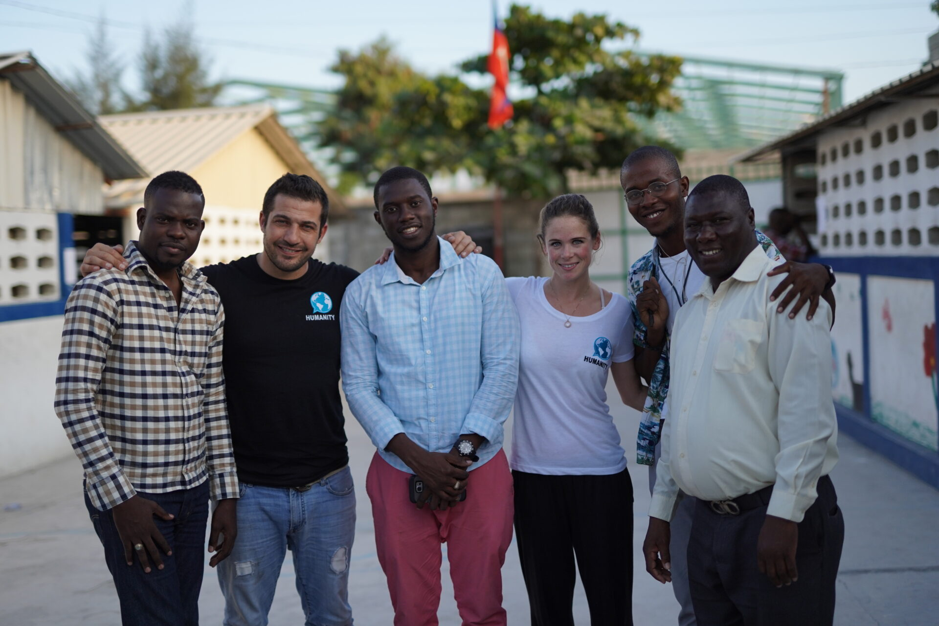 Behind-the-scenes Haiti crew