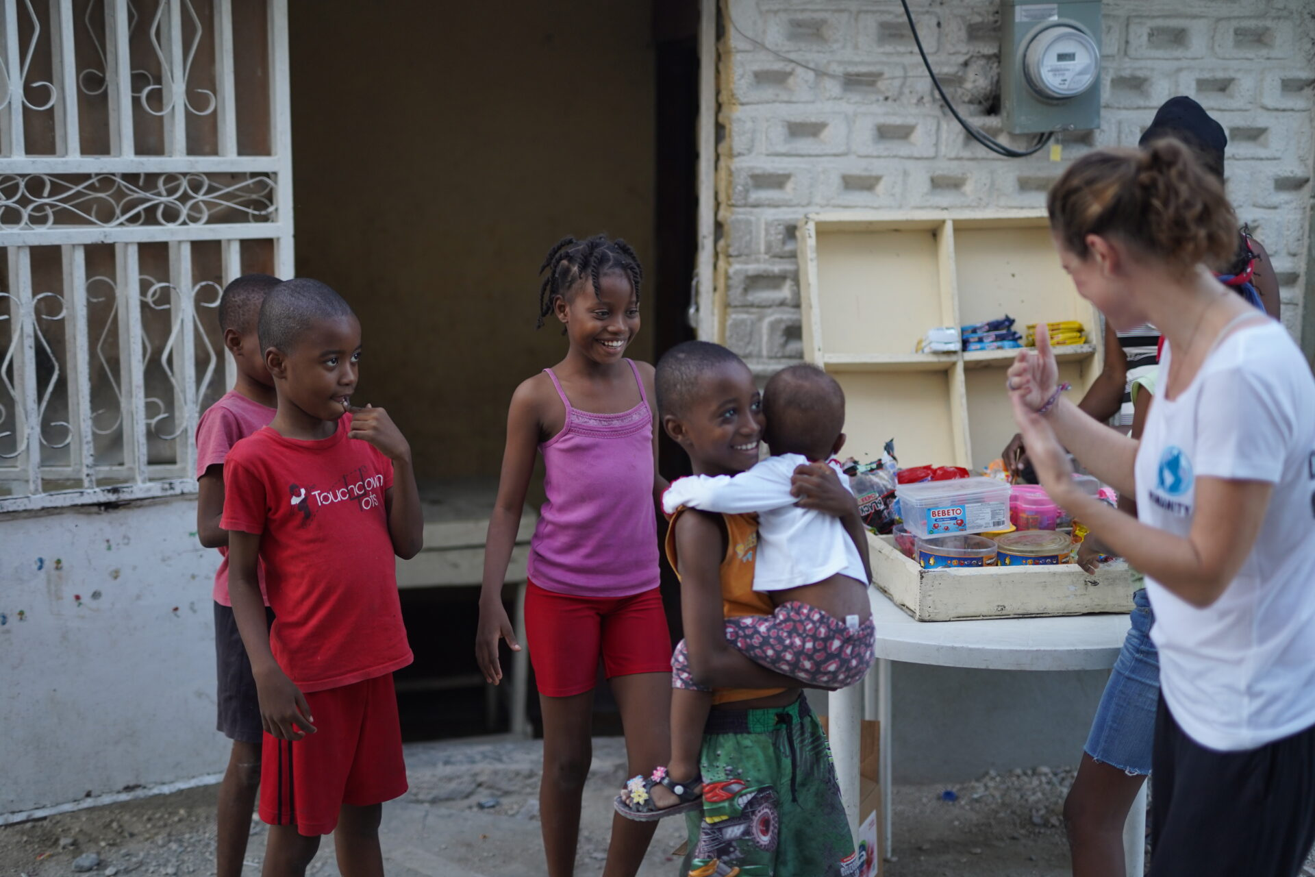 Haitian children in ghetto